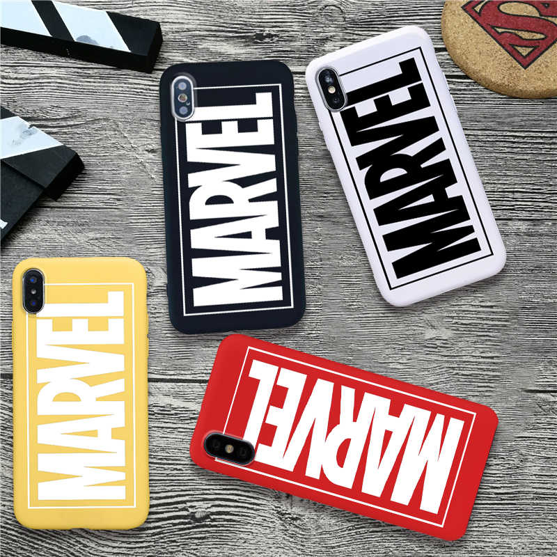 Marvel logotipo macio silicone doces capa de cor caso do telefone para o iphone 11 pro max x xr xs max 6 7 8 plus 6s