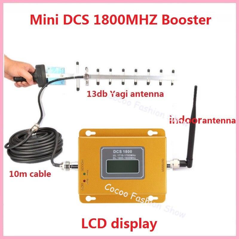 ¡Pantalla LCD! Mini 2G 4G 1800 MHz amplificador de señal celular, GSM DCS 1800 MHz amplificador de señal móvil + Antena 3g GSM