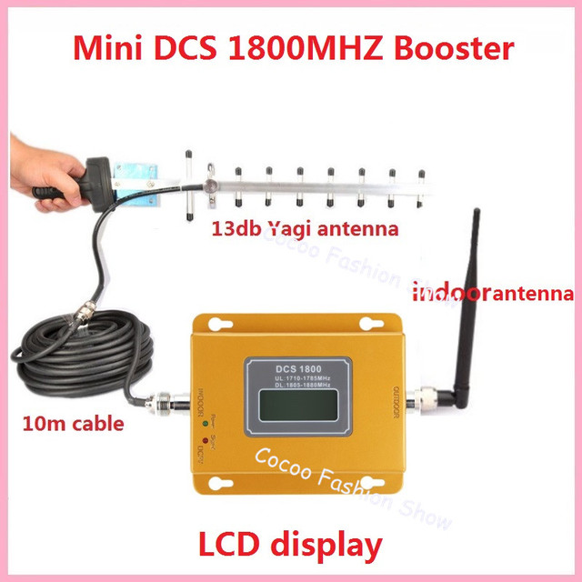378baa4fe9b446 Mini 2G 4G 1800MHZ Cellular Signal Booster , GSM DCS 1800MHZ Mobile Signal  Repeater Amplifier + 3G GSM Antenna