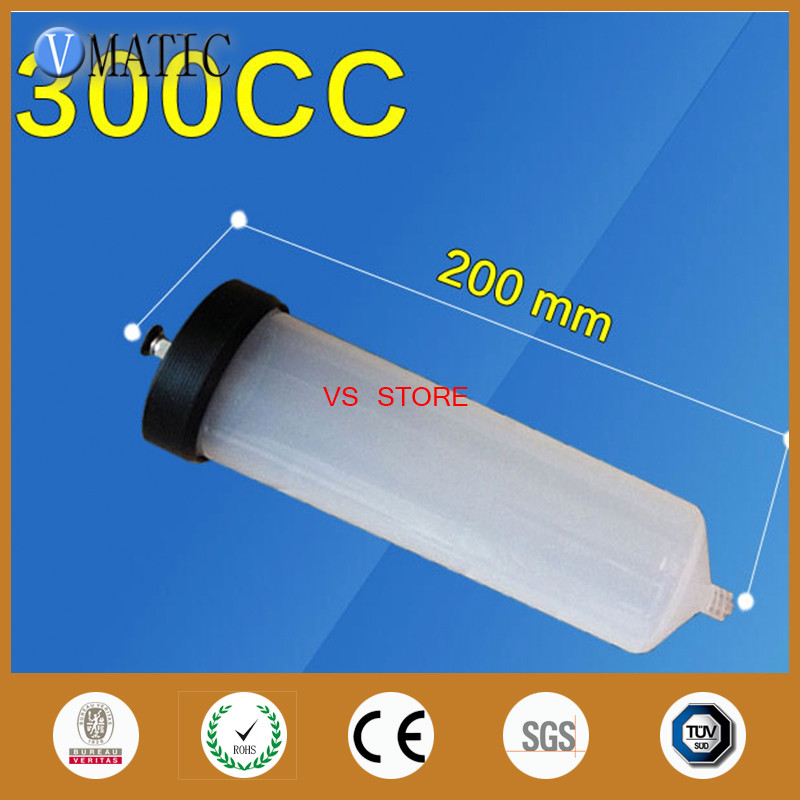 Free Shipping NEW Thickening explosion-proof 300CC Helix Luer Lock Tip Dispenser Syringe Barrel w Adapter