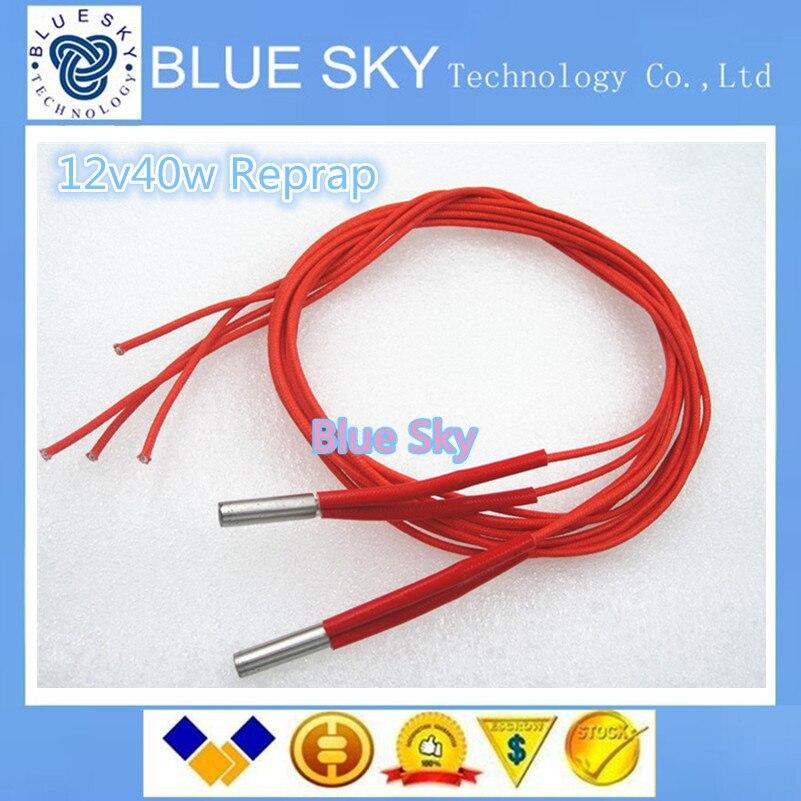 Free shipping 1PCS 3D Printer Prusa Mendel 12v40w 6 20 Cartridge Heater Reprap 12V 40W NEW