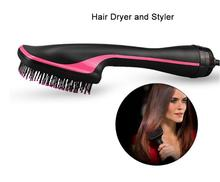 Profesyonel saç kurutma makinesi fırçası Blower düzleştirici saç tarak negatif iyonik elektrikli sıcak hava fırçası Salon darbe saç şekillendirici araçları