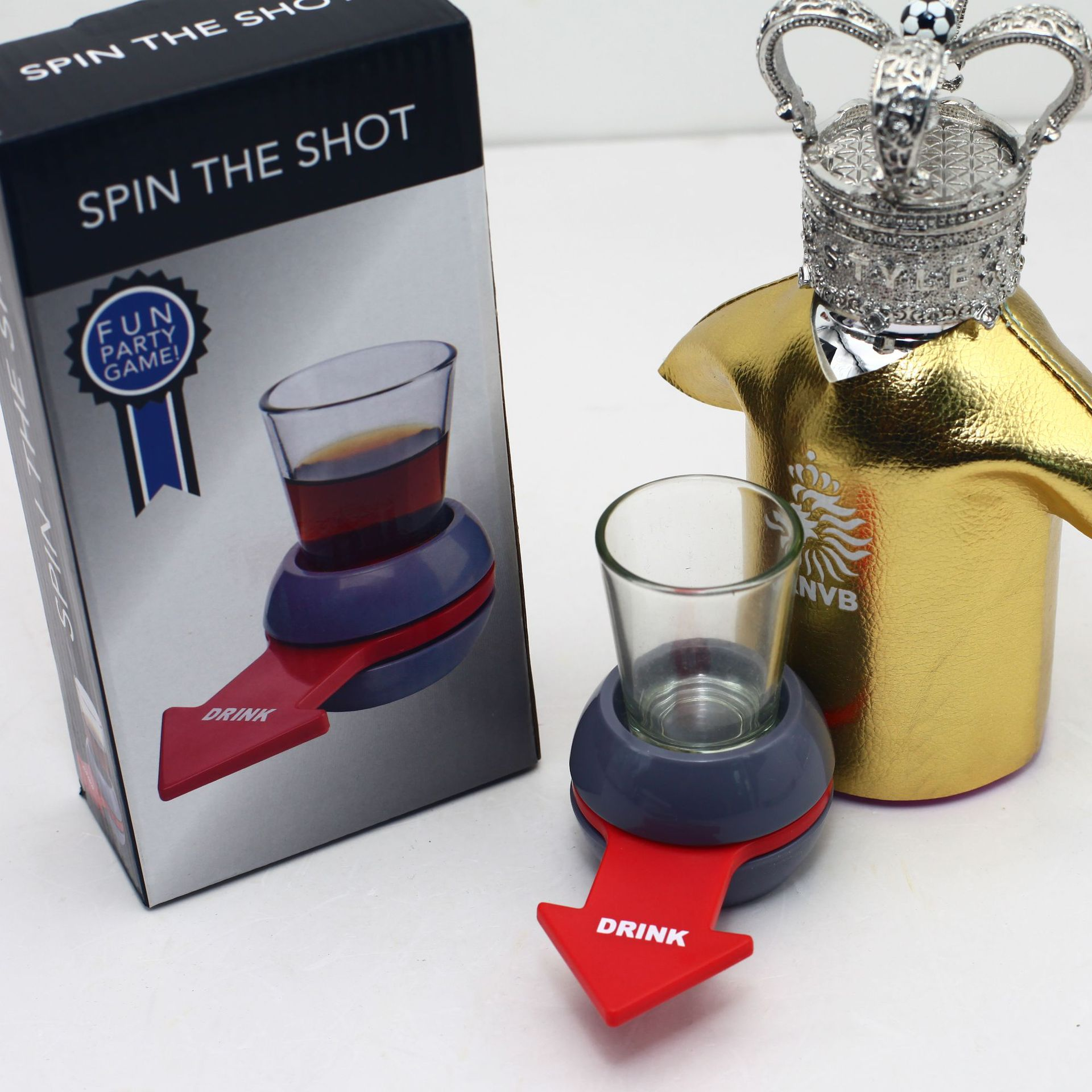Spin The Shot Drinking Game Turntable Roulette Glass Spinning Fun Party Home Adult Toys Novelty Glass Drinking Game Toys