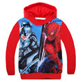 New Spider-man 2017Spring Hoodies Boys Sweatshirt Cartoon Printed Hoodies Kids Boys Girls Long Sleeve Casual Cotton T-shirt Tops