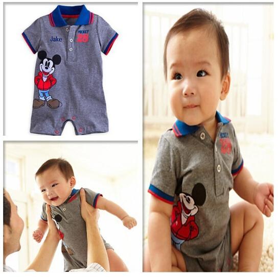 Romper do bebê verão meninos e meninas macacão de algodão dos desenhos animados Mickey macacão infantil