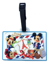 Travel Accessories Cartoon Luggage Tag Micky Minie luggage luggage tags boarding card identification card bags cheap YOULOUIS 0 06kg Silica Gel LT1921 Luggage Carts 0 2cm 10cm Paisley Mice tags