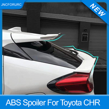 цена на Rear Trunk Lid Car Spoiler Wing For Toyota CHR 2016 17 18 19 ABS Plastic Material Roof Middle Spoiler For CHR Black Carbon