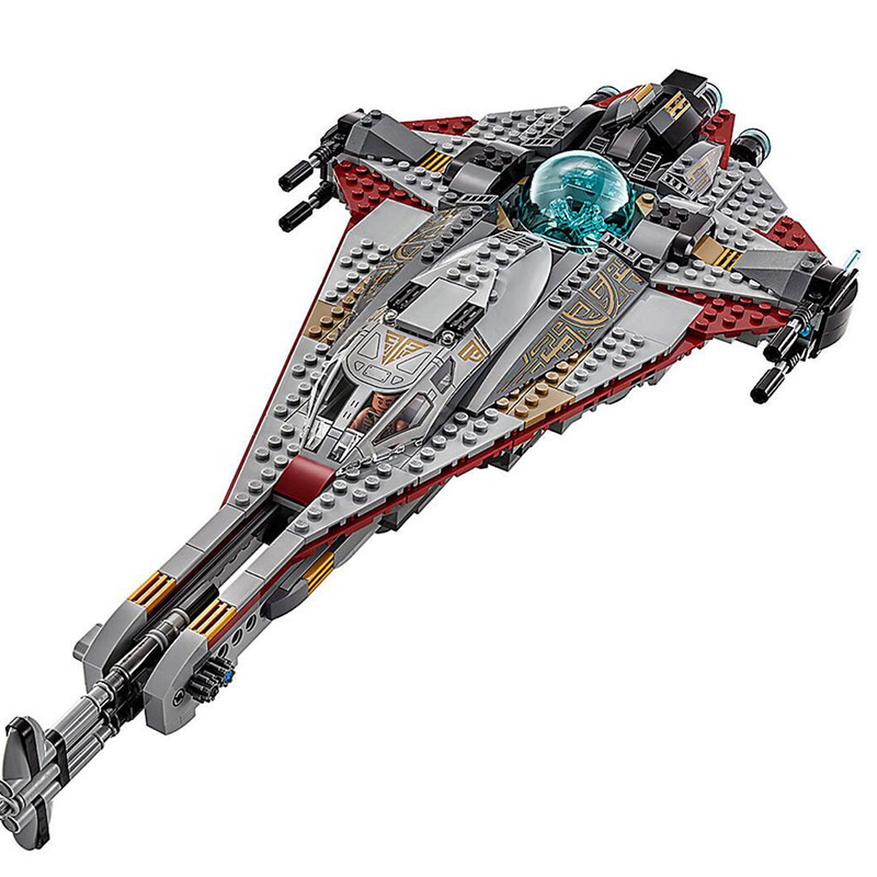 LEPIN 05113 Star Starfighter Series The Arrowhe 75186 Star Ship feature War Building Blocks 800pcs Bricks Toys Gift For Children new lepin 22001 pirate ship imperial warships model building kits block briks toys gift 1717pcs