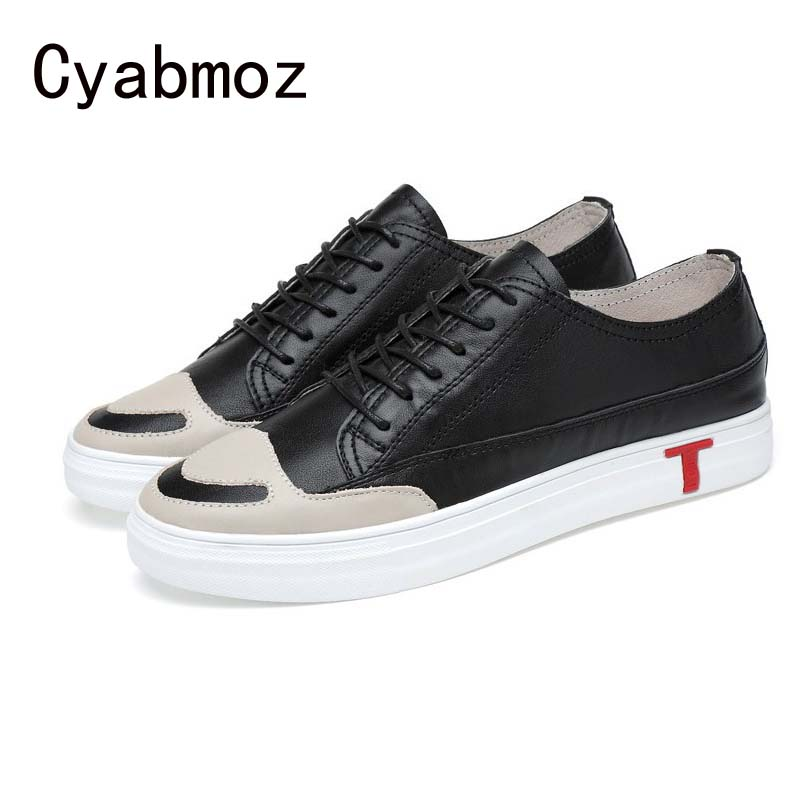 Hot sale men casual shoes genuine leather flats comfortable  men fashion smiling walking shoes oxfords zapatos hombre men casual shoes 2017 hot sale canvas shoes white gray flats concise street fashion hook