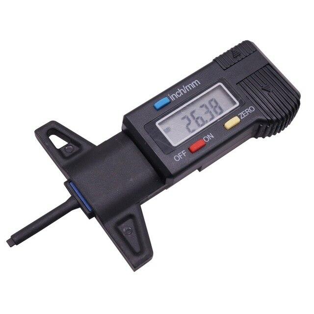 10 piezas de plástico medidor de patrón de neumáticos aguja de Metal sonda Digital patrón manómetro interruptor Manual máquina se puede apagar automáticamente