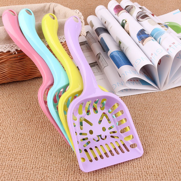 New Pet Products Shovel Cat Litter Plastic Scoop Cat Sand Cleaning Dog Food Spoons Cat sand shovel Pet Supplies PH45 (8)