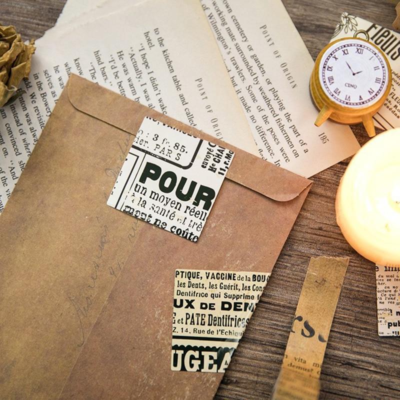 Купить с кэшбэком 45Pcs/box Vintage English Newspaper Stickers Scrapbooking Creative DIY Diary Journal Decorative Adhesive Labels Cute Stationery