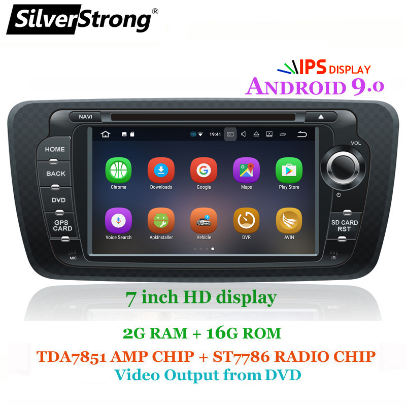 SilverStrong Android9 0 QuadCore 2G 16G Ibiza Car DVD for Seat Ibiza IPS 7inch Android Radio