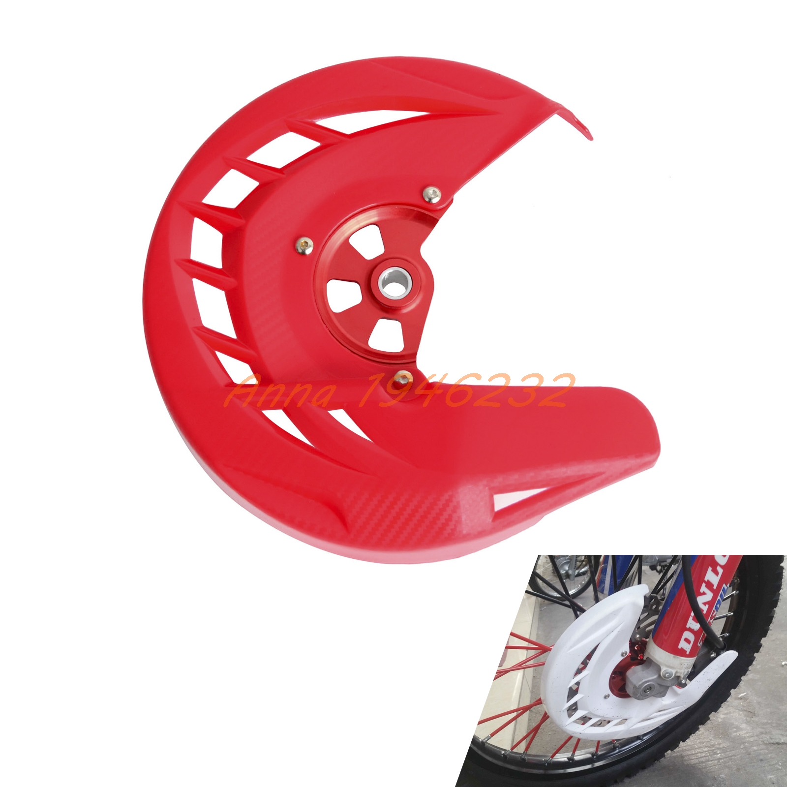 Red Front Brake Disc Rotor Guard Cover For Honda CRF250L CRF250M 2012 2013 2014 2015 keoghs motorcycle brake disc brake rotor floating 260mm 82mm diameter cnc for yamaha scooter bws cygnus front disc replace