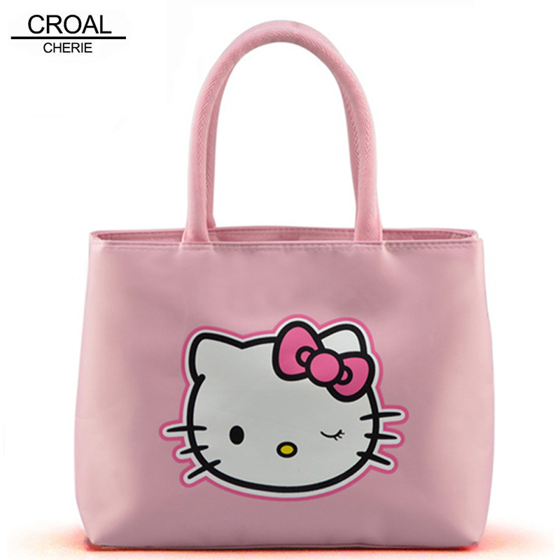 CROAL CHERIE 27.5*21*11cm Hello Kitty Diaper Bag Nappy Bag For Mommy And Baby Cat Women Messenger Bags Designer Stroller Bag