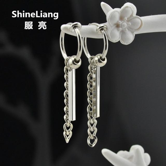 2018 Drop Earrings For Men Women Silver Alloy Material Clip On The Ear No Pierced Female