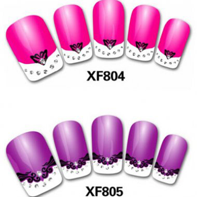 50 pcs french style designs 3d nail art sticker nail art decals 50 pcs french style designs 3d nail art sticker nail art decals stickers 3d nail decorations prinsesfo Image collections