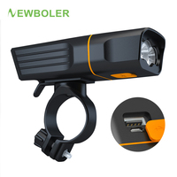 NEWBOLER 2400LM גובה אור 10 שעה אופניים מול אור USB אופניים פנס הר כביש אופני פנס IPX-6 עמיד למים 5V/1A