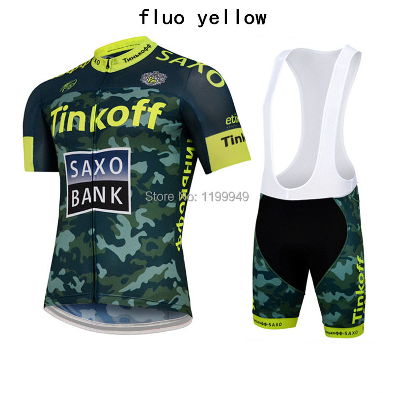 Ropa Ciclismo Tinkoff Saxo Bank Cycling Jersey Shorts Sleeve Bib Kits shorts  Men Sport Jersey Bicycle Mtb Biker Cycle …  1230-Owen  ff5835f97