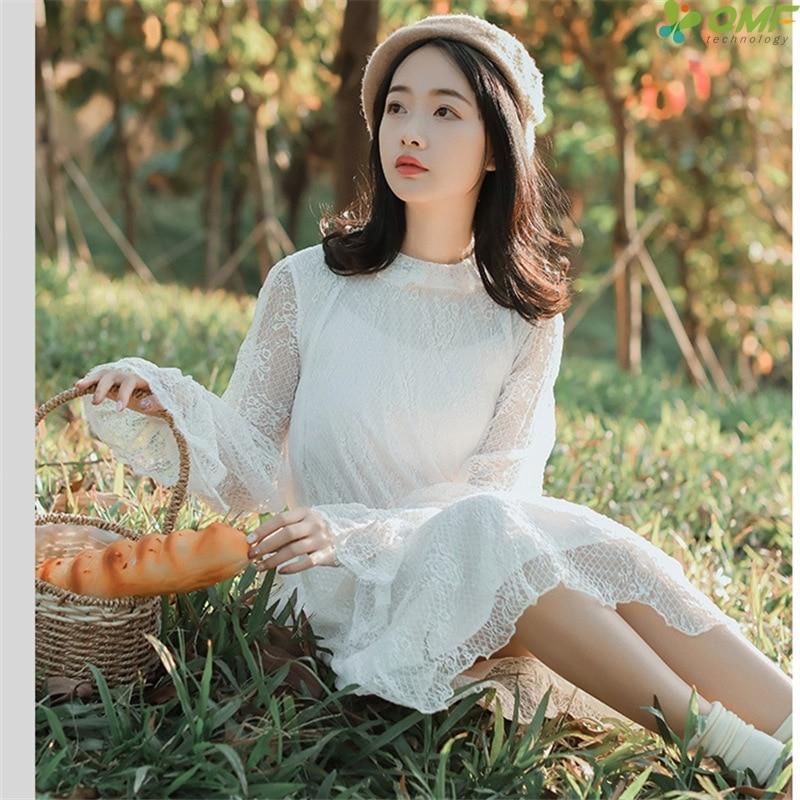 Aliexpress Com Buy Elegant Flare Sleeve Wedding Dress: Aliexpress.com : Buy White Fairy Literary Dress Female