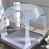High Transparency Quadrate Bed Net Insect Mesh Three door Mongolian Yurt Mosquito Net Universal Bed Capony for Adult Student