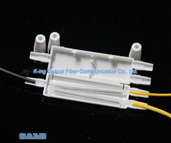 50 pcs Da Gota caixa de Protecção de caixa de proteção do cabo de fibra Óptica de calor tubulação do psiquiatra de calor para proteger a fibra bandeja de emenda 1 em 2 fora