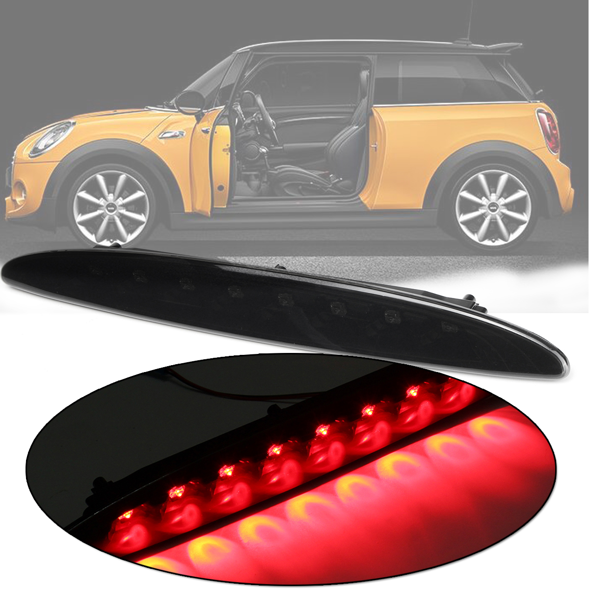 1Pc Car Third Brake Light for BMW MINI COOPER ONE R50 R53 2001-2006 Car led Super Bright Rear Brake Light Stop Red Color Light