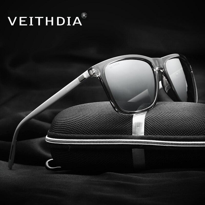 VEITHDIA Unisex Retro Aluminium + TR90 Polarisierte Mens-sonnenbrille Markendesigner spiegel Vintage Fahren Sonnenbrille für Frauen shades