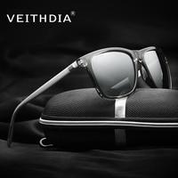 VEITHDIA Brand Unisex Retro Aluminum TR90 Sunglasses Polarized Lens Vintage Eyewear Accessories Sun Glasses For Men