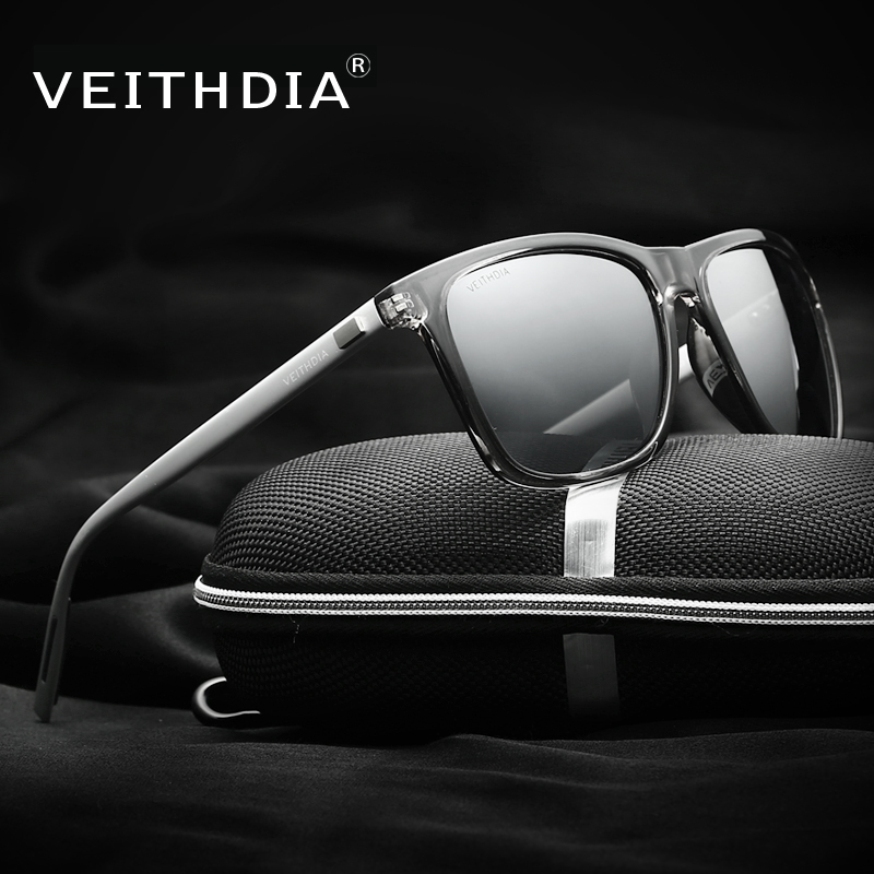 VEITHDIA Unisex Retro Aluminum TR90 Polarized Mens font b Sunglasses b font Brand Designer mirror Vintage