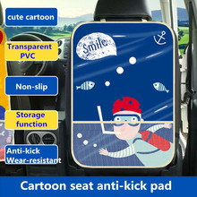 New Cartoon Car Backseat Protector Mat, Storage Bag
