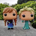 Funko pop Anna Elsa Princess 10cm PVC NO.82 Action model Doll in Box High quality Collection Toy For Children