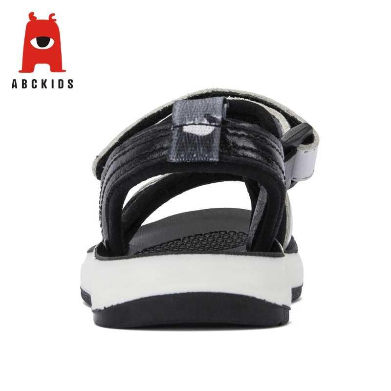 Abckids 2019 ฤดูร้อนเด็กรองเท้าแตะชายรองเท้าหนังเด็กรองเท้ากลางแจ้งรองเท้าผ้าใบรองเท้าแตะ