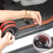רכב מדבקות 5D פחמן סיבי גומי סטיילינג דלת אדן מגן מוצרים עבור KIA טויוטה מאזדה BMW אאודי פורד יונדאי וכו אבזרים