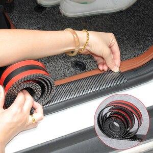 Image 1 - Adesivos de carro 5d fibra carbono borracha estilo protetor peitoril da porta bens para kia toyota mazda bmw audi ford hyundai etc acessórios