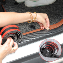 Car Stickers 5D Carbon Fiber Rubber Styling Door Sill Protector Goods For KIA Toyota Mazda BMW Audi Ford Hyundai etc Accessories
