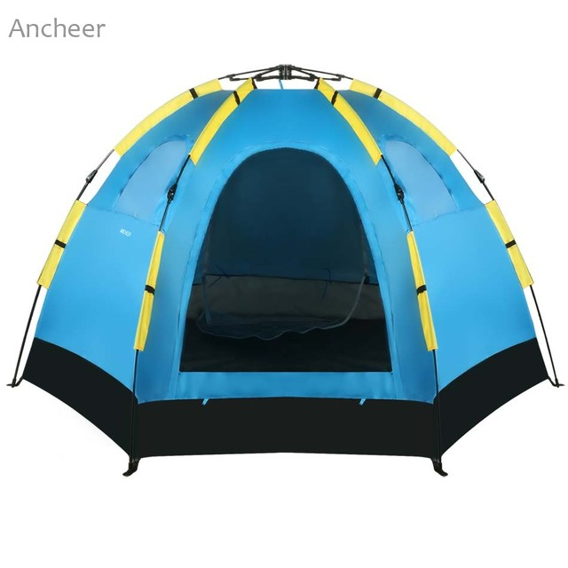Ancheer tent Blue 5-8 Person Waterproof Polyester Automatic Pop Up Portable C&ing Hiking Tent  sc 1 st  AliExpress.com & Ancheer tent Blue 5 8 Person Waterproof Polyester Automatic Pop Up ...