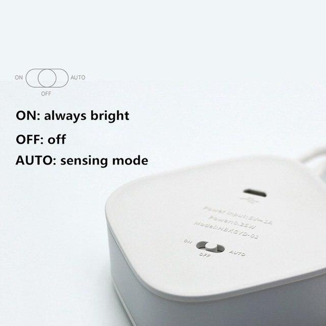 Inteligente sem fio PIR Sensor de Movimento Sensor De Luz Noite USB LED de Carregamento Luz do Quarto Sala de estar Corredor Banheiro Lâmpada Da Noite