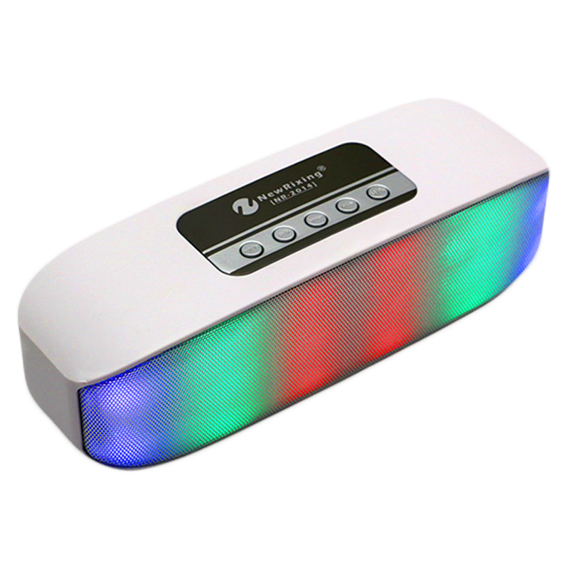 NR2014 Wireless Column Bluetooth Outdoor Stereo LED Colorful Light Usb Portable font b speakers b font