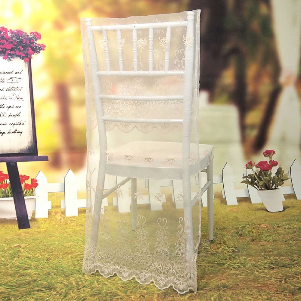 folding chair covers for wedding wobble reviews lace organza 38cm w x 92cm l decorations birthday party event