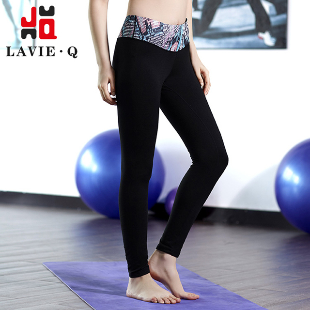 LQCL Women Sports Clothing  High Waist Yoga Pants Sport Wear Fitness Leggings Active Pants Flash Dry 0044A0045A