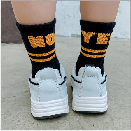 Children's socks wholesale tide kids boys girls 2021 years new left and right foot sports letters cotton socks 4