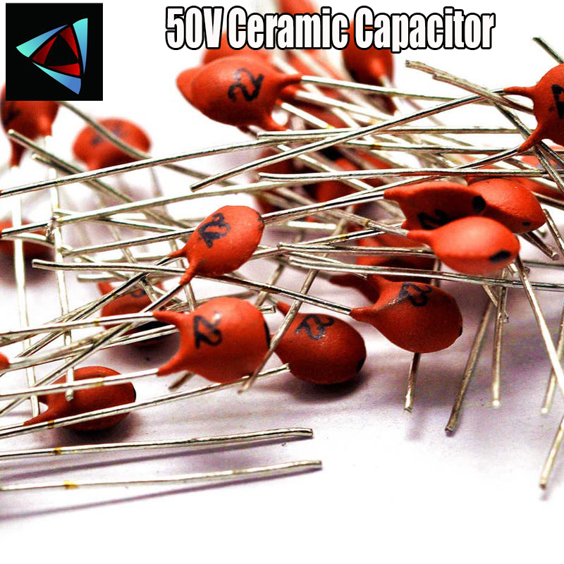 200pcs 50V Ceramic Capacitor Assorted Kit Assortment Set From 1pF To 1nF 10nF 15nF 22nF 100nF