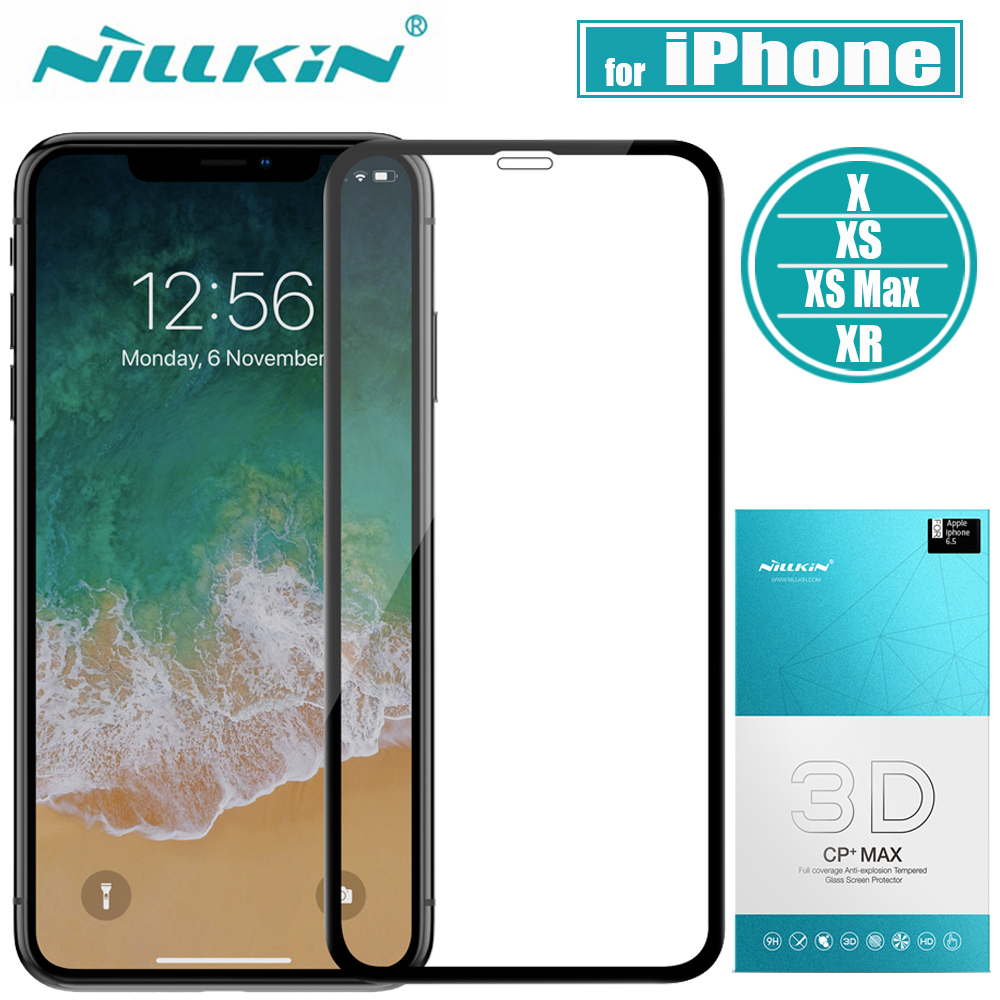 Nillkin Glass for iPhone X/XS/XR/Xs Max Screen Protector 3D Full Cover Safety Protective Glass on for iPhone X/XS/XR Tempered iphone