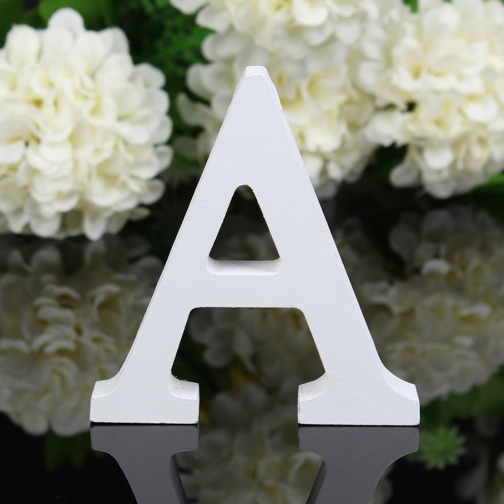 1 pc white wooden letter 8x1 2cm alphabet wood craft for wedding