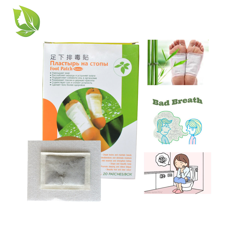 60 Pcs=3 Boxes detox foot patch 100% herbs high quality