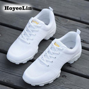 Image 5 - HoYeeLin Mesh Jazz Shoes Mens Modern Soft Outsole Dance Sneakers Breathable Dancing Fitness Training Shoes