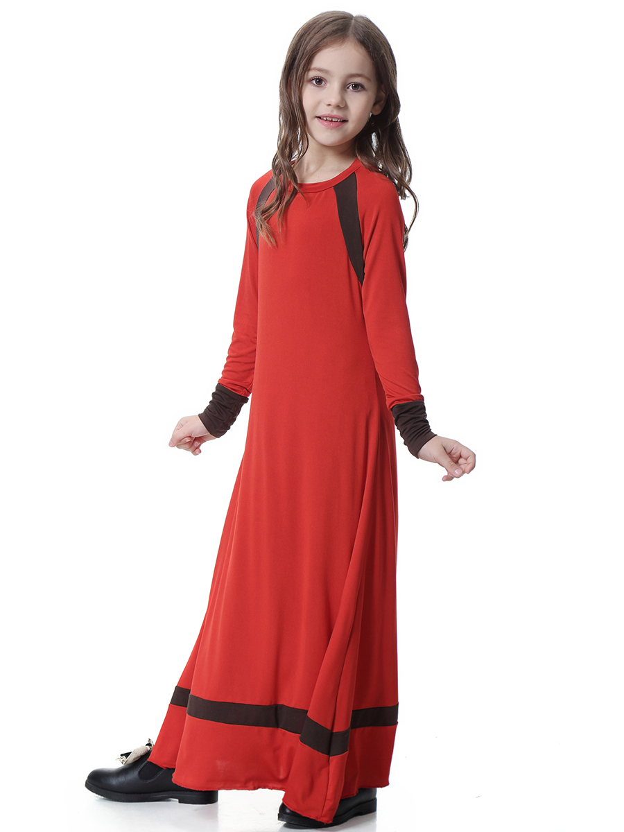 Muslim Children Abaya Enfant Long Robe Maxi Dress Abaya for Kids Kimono Ramadan Kaftan Moroccan Caftan Girls Islamic Clothing