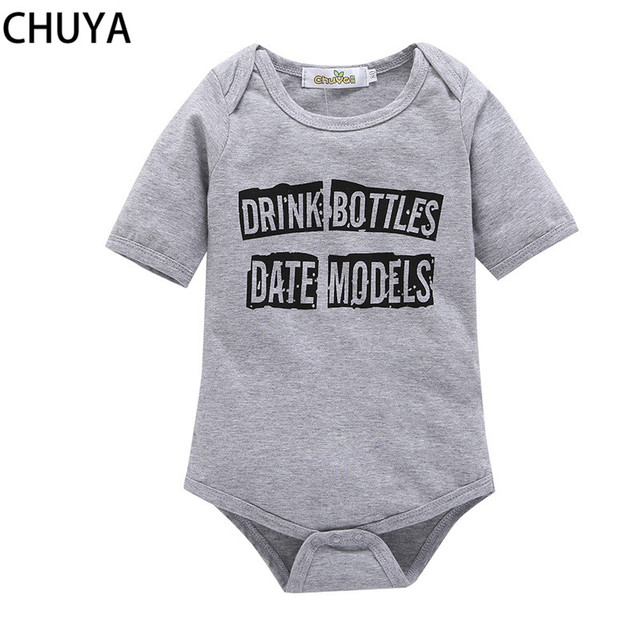 624a6ba42dc8 CHUYA Baby Rompers Summer Baby Boy Clothes Kids Jumpsuit Newborn Baby Girls  Rompers Toddler Girls Purple Letter Pajamas Clothing