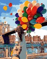 Release The Balloon DIY Oil Paint Painting By Numbers Diy Picture Drawing Coloring On By HandHome
